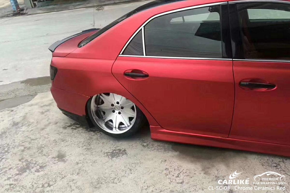 CL-SC-03 chrome ceramics red car wrap vinyl