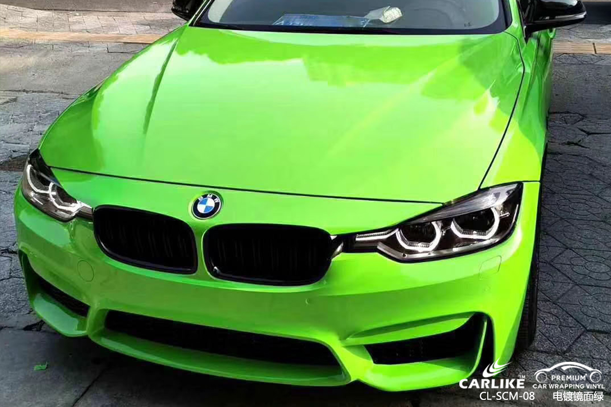 CL-SCM-08 chrome mirror green car vinyl material suppliers for BMW Comoros
