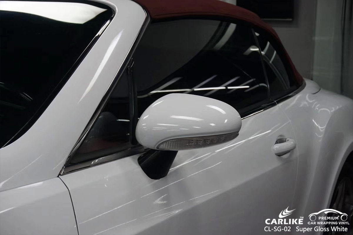 CL-SG-02 super gloss white auto car wrap gloss for BENTLEY Martinique