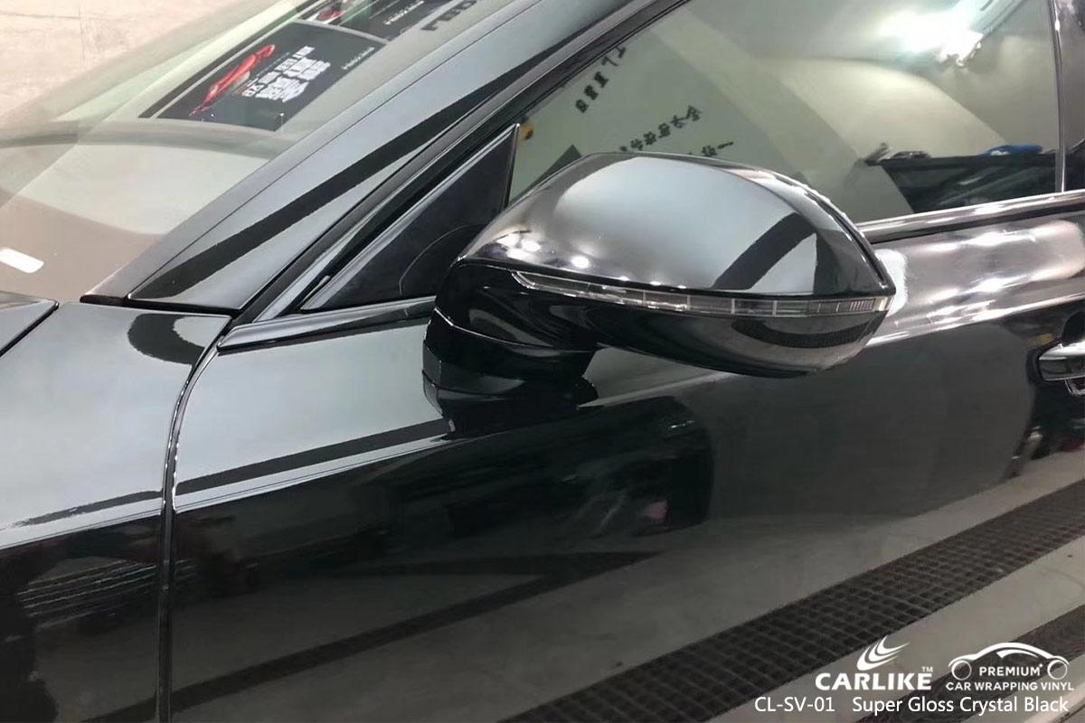 CL-SV-01 SUPER GLOSS CRYSTAL BLACK CAR WRAP VINYL for AUDI