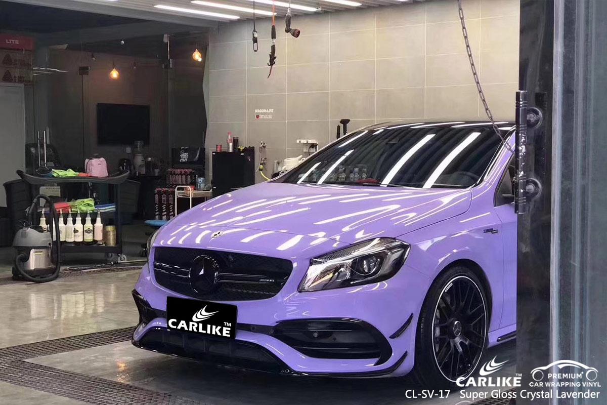 CL-SV-17 super gloss crystal lavender car wrap vinyl for MERCEDES-BENZ