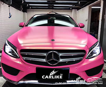 CL-DC-10 diamond crystal matte pink gold car wrap film for MERCEDES-BENZ New Hampshire