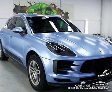 Involucro in vinile auto blu elettro metallizzato CL-EM-25 per PORSCHE St. Helena