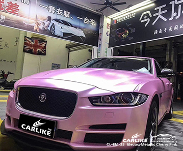CL-EM-33 electro metallic cherry pink car wrap vinyl matte for JAGUAR Seattle