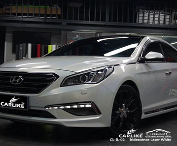 CL-IL-02 iridescence laser white car wrap film for  BEIJING HYUNDAI Oregon