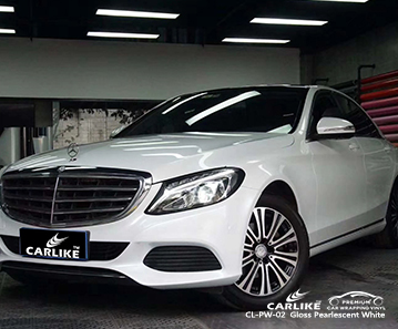 CL-PW-02 gloss pearlescent white car wrap vinyl for  MERCEDES-BENZ Tennessee United States