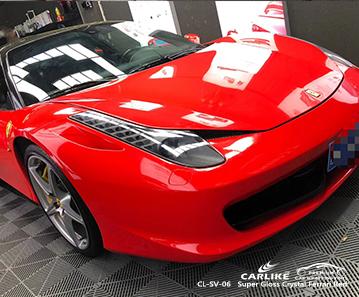 CL-SV-06 super gloss crystal red vinyl wrap my car for FERRARI South Carolina United States