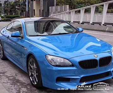 CL-SV-23 vinile per auto avvolgente blu turchese cristallo super lucido per BMW South Arkansas Stati Uniti