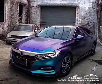 Feuille de voiture caméléon mat CL-CE-02 bleu clair à violet pour HONDA Konya Turquie