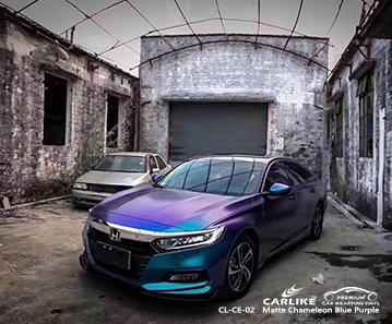 CL-CE-02 matte chameleon light blue to purple car vinyl films for HONDA Detroit