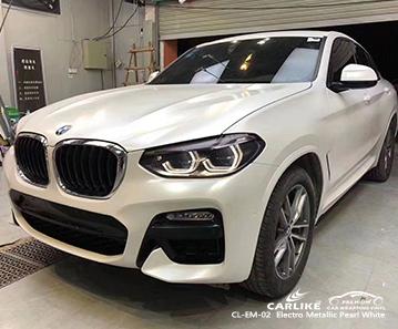 CL-EM-02 avvolgimento del veicolo elettro metallizzato bianco perla per BMW Manila Filippine