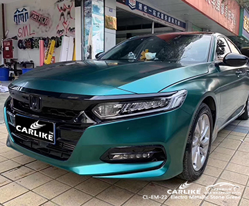 CL-EM-22 electro metallic stone green car wrapping for HONDA Batangas