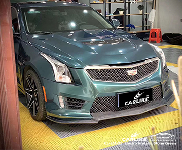 CL-EM-22 electro metallic stone green car wrapping for CADILLAC Miami