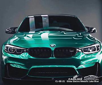 CL-GE-21 vinile elettro metallizzato blu lago avvolge la mia auto per la BMW Calamba Filippine
