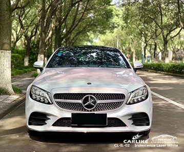 CL-IL-02 iridescence laser white car vinyl wrap for MERCEDES-BENZ Muntinlupa