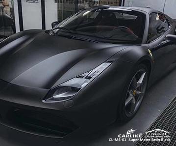 CL-MS-01 super matte satin black car wrap vinyl for FERRARI Legazpi Philippines