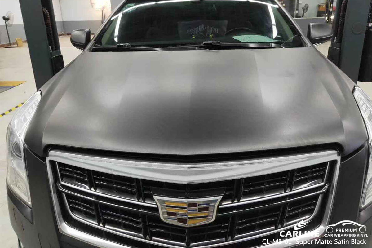 CL-MS-01 super matte satin black vinyl wrapping for CADILLAC Nasugbu Philippines