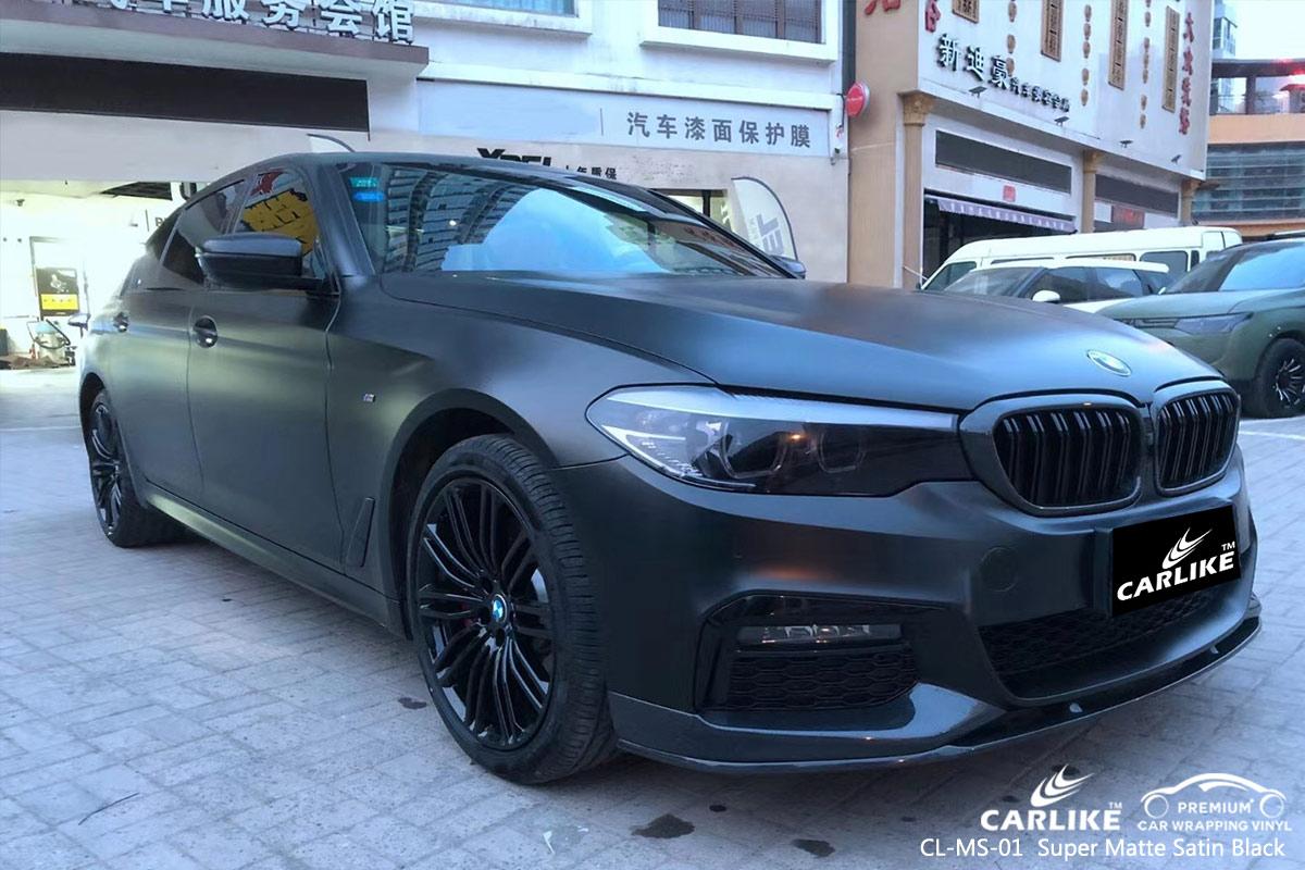 CL-MS-01 super matte satin black vinyl films for BMW Trabzon Turkey