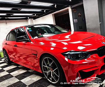 CL-SV-07 super brilhante de cristal de proteção de vinil vermelho quente para carros para BMW Kahramanmaras Turquia