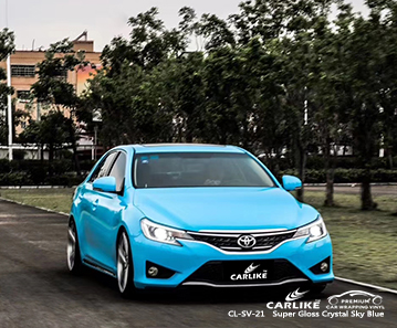 CL-SV-21 super gloss crystal sky blue vinyl wrap gloss for TOYOTA Dasmarinas