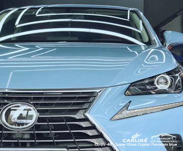 CL-SV-40 super gloss crystal porcelain blue car wrap film for LEXUS Boston