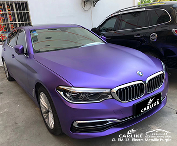 CL-EM-13 electro metallic purple vehicle wrapping for BMW Perlis Malaysia