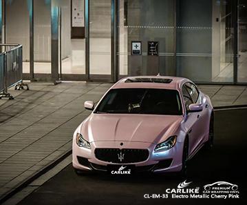CL-EM-33 electro metallic cherry pink vinyl matte car wrap for MASERATI Karaman Turkey