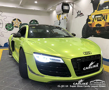 CL-GC-14 super gloss candy lemon green wrap my car for AUDI Vermont Estados Unidos
