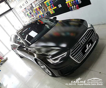 CL-MS-01 super matte satin black car wrapping for AUDI Labuan Federal Territory Malaysia