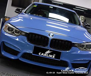 CL-SV-23 super brillante cristal turquesa azul lámina de coche para BMW Mississippi Estados Unidos