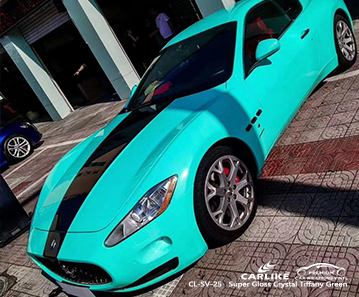 CL-SV-25 super gloss crystal tiffany green scooter vinyl wrapping for MASERATI Occitanie France