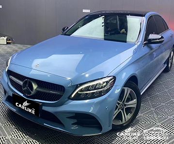 CL-SV-40 super gloss crystal porcelain blue car wrap gloss for MERCEDES-BENZ Iowa United States