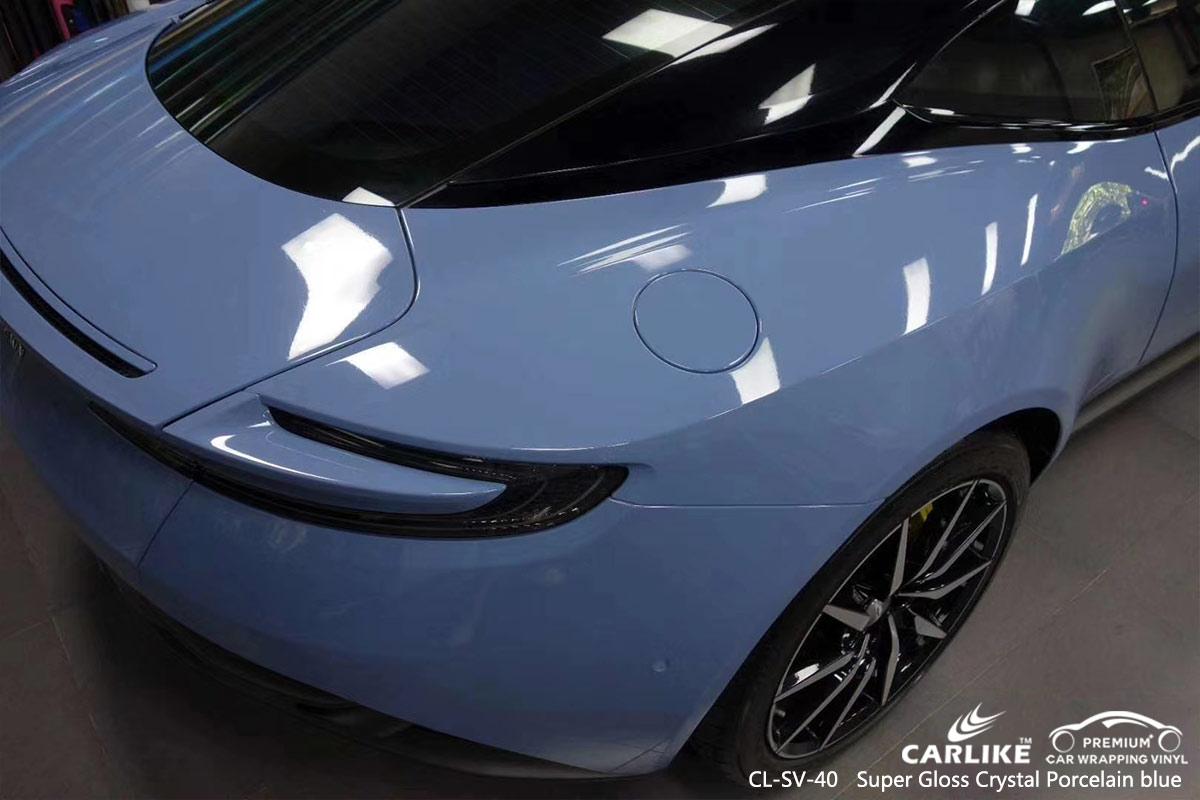 CL-SV-40 super gloss crystal porcelain blue vinyl matte car wrap for ASTON MARTIN Connecticut United States