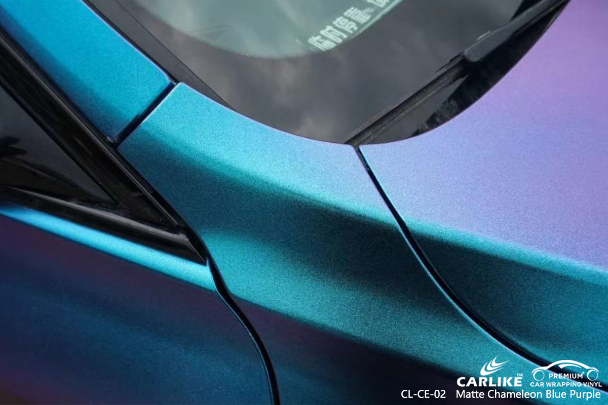 CL-CE-02 matte chameleon light blue to purple body wrap car supplier for BMW General Santos Philippines