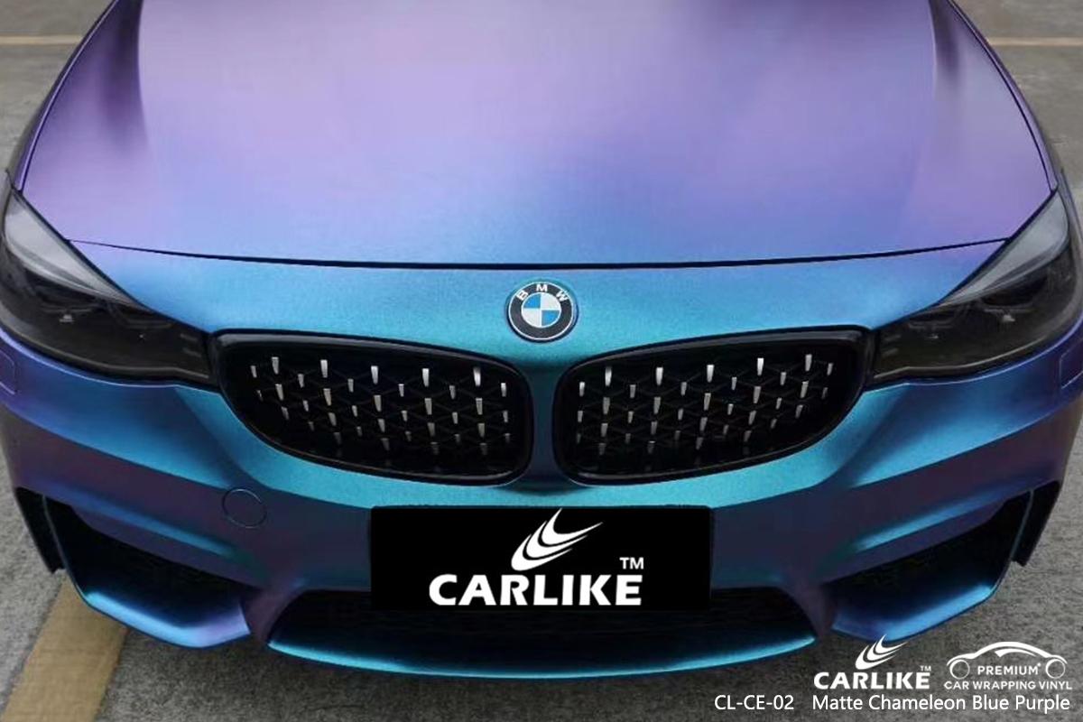 CL-CE-02 matte chameleon light blue to purple body wrap car supplier for BMW General Santos Philippines