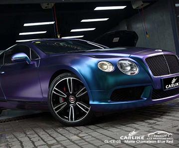 CL-CE-03 vinyle de protection caméléon mat bleu foncé à violet pour voitures pour BENTLEY Frankfort États-Unis