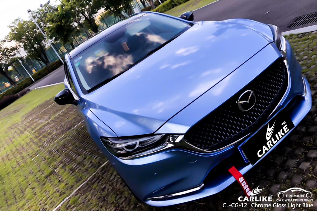 CL-CG-12 chrome gloss light blue protective vinyl for cars ...
