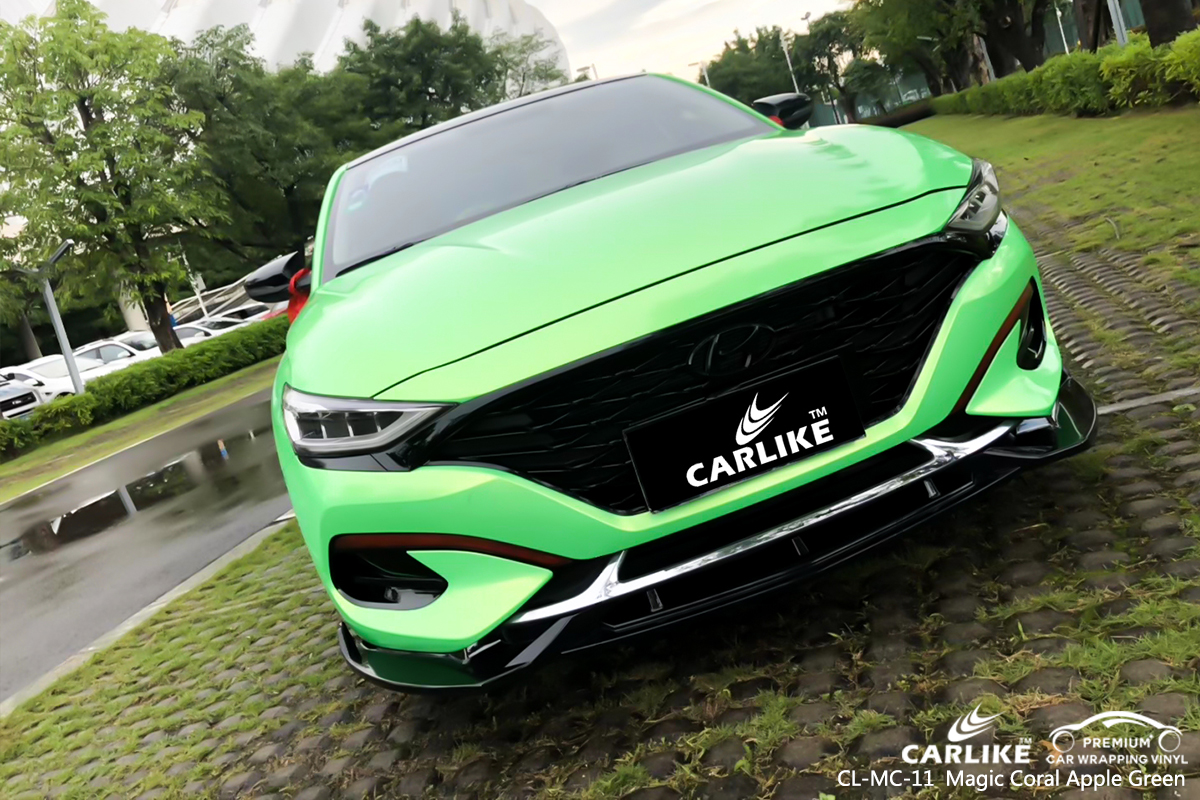 CL-MC-11 magic coral apple green car wrapping for BEIJING ...