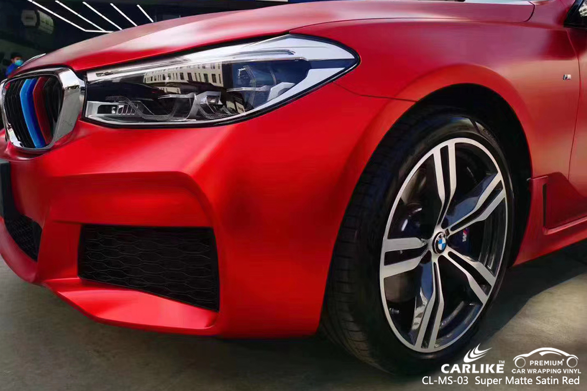 Cl Ms 03 Super Matte Satin Red Car Foil For Bmw Adana Turkey Sino Vinyl