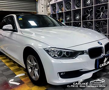 CL-PW-02 pellicola ppf bianco perlato lucido per BMW San Carlos Filippine