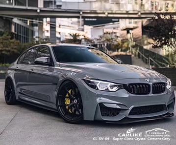 CL-SV-04 involucro in vinile in fibra di carbonio grigio cemento cristallo super lucido per bici per BMW Kayseri Turchia