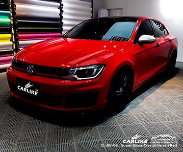 CL-SV-06 super gloss crystal ferrari red vinyl wrap my car for VOLKSWAGEN Pandi Philippines