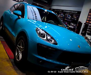CL-SV-22 super gloss crystal medium blue wrap car black matt for PORSCHE Cavite Philippines