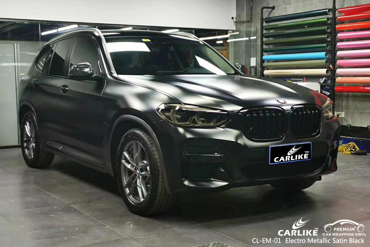 CL-EM-01 electro metallic satin black car foil for BMW Adiyaman Turkey