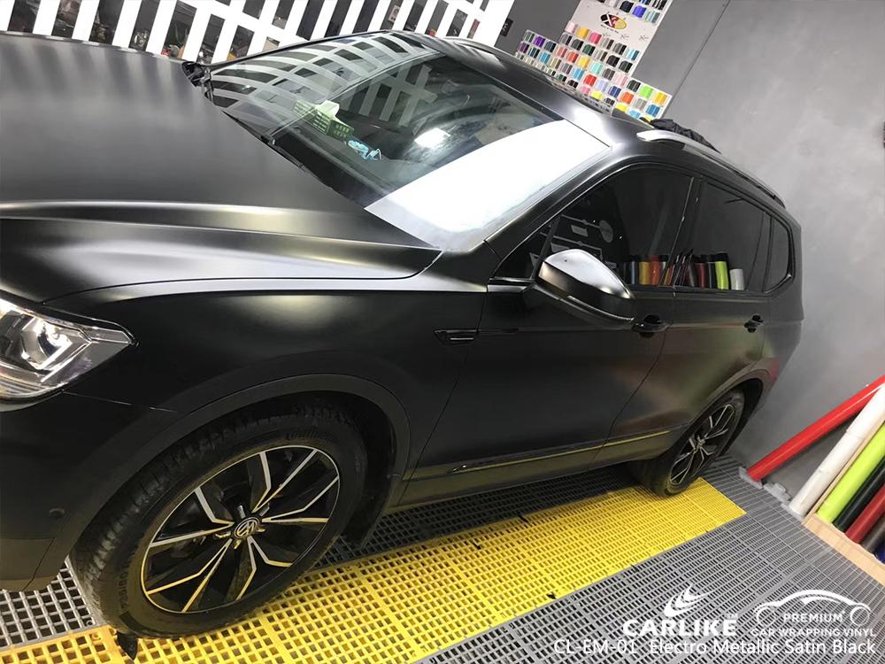 CL-EM-01 electro metallic satin black car wrap vinyl matte for VOLKSWAGEN Zonguldak Turkey