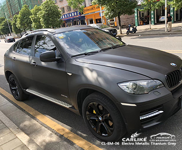 CL-EM-06 electro metallic titanium grey wrap car black matt for BMW Bilecik Turkey