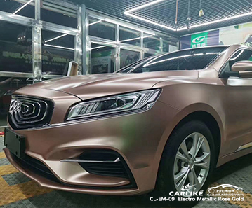 CL-EM-09 electro metallic rose gold vinyl wrapping for GEELY Kirsehir Turkey