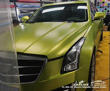 CADILLAC Kastamonu Türkiye için CL-EM-16 elektro metalik limon yeşili parlak vinil kaplama