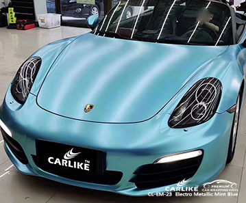 CL-EM-23 electro metallic mint blue tpu ppf film for PORSCHE Batman Turkey