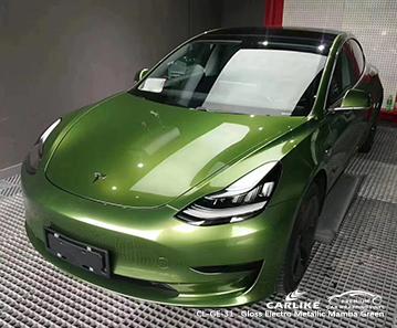 CL-GE-31 TESLA Amasya Türkiye için parlak elektro metalik mamba yeşil araba sargısı